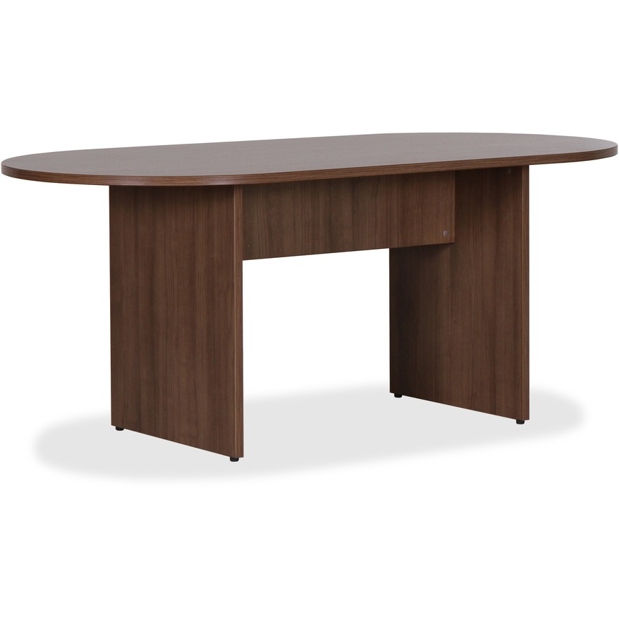 Lorell essentials walnut laminate oval conference table