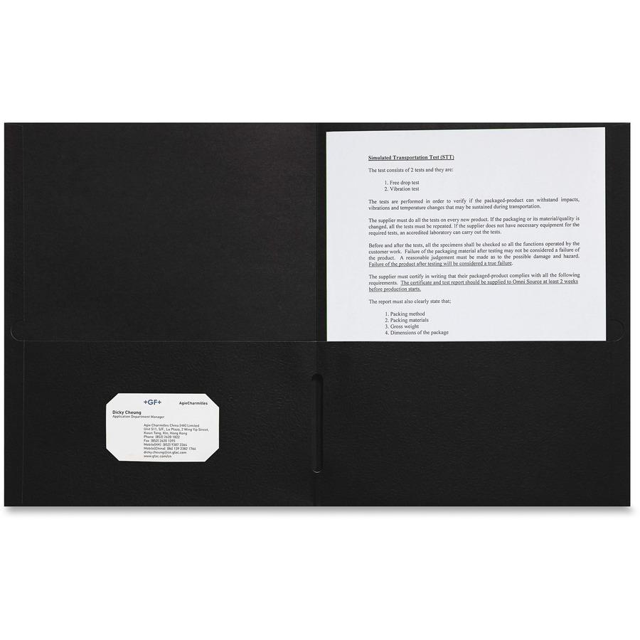 Sparco 2 Pocket Leatherette Portfolio Spr78546