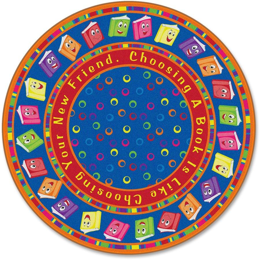 Flagship Carpets Bright Circletime Books Round Rug