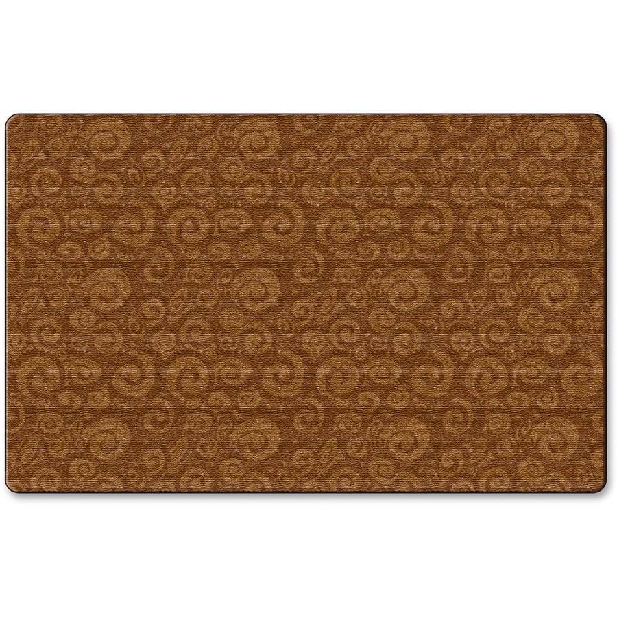 Flagship Carpets Solid Color Swirl Rug FCIFE39344A