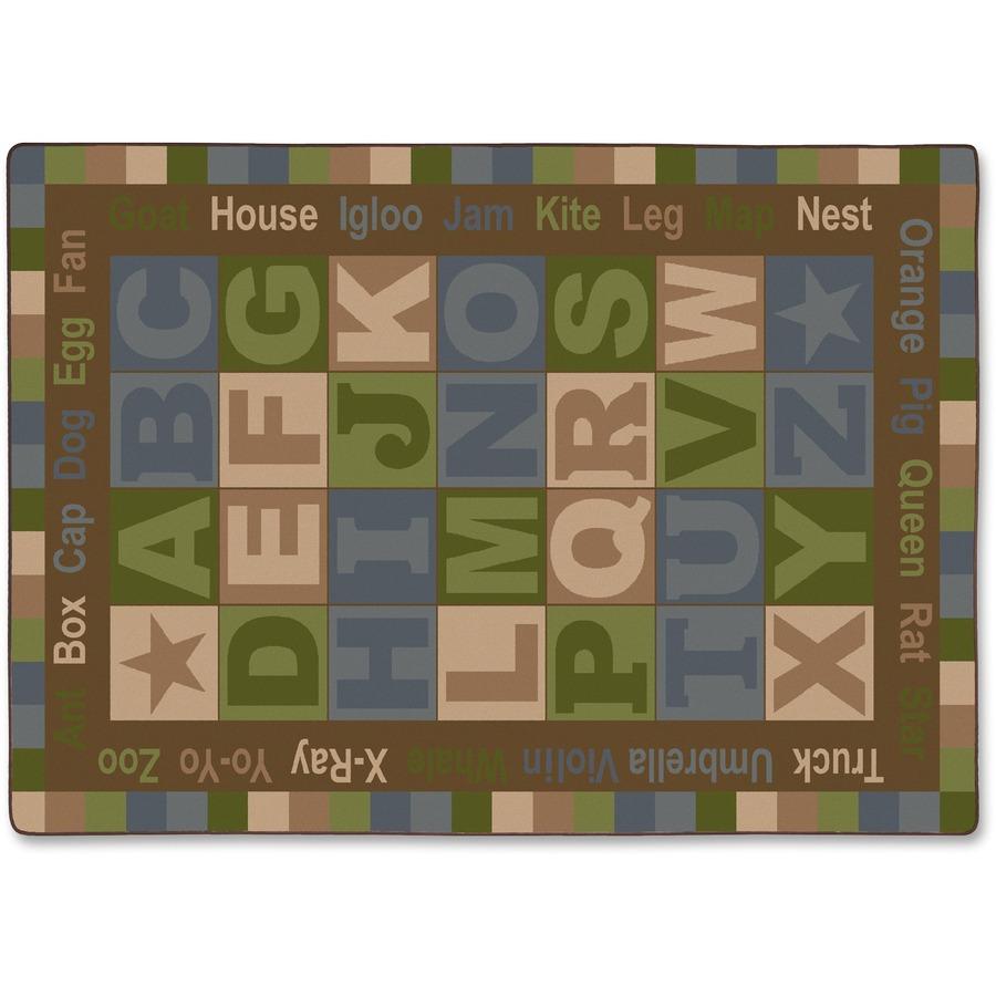 Flagship Carpets Abc Tranquility Alphabet Rug