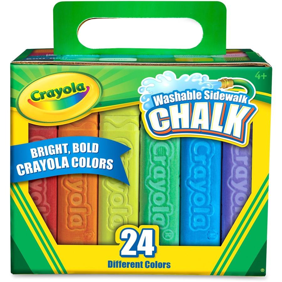 Crayola Washable Sidewalk Chalk - Walker\'s Office Supplies