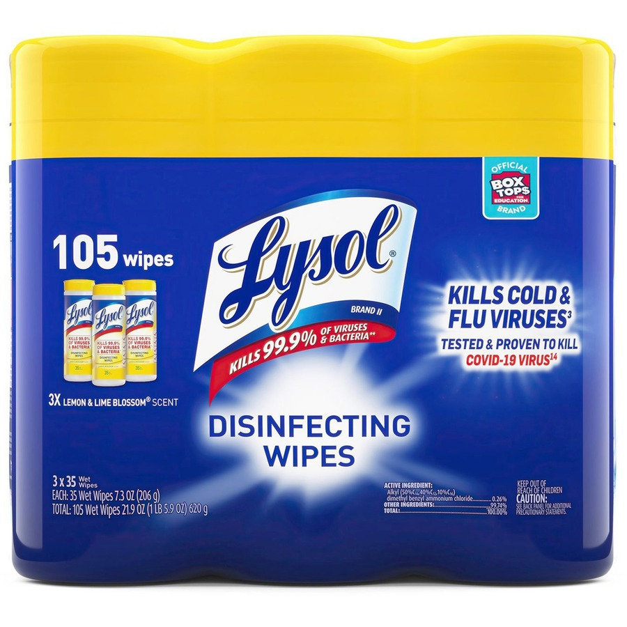 Lysol Disinfecting Wipes 3-pack - Urban Office Products