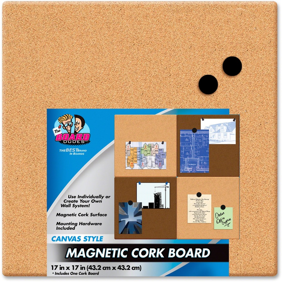 The Board Dudes Canvas Style Magnetic Cork Tile Bducyf06