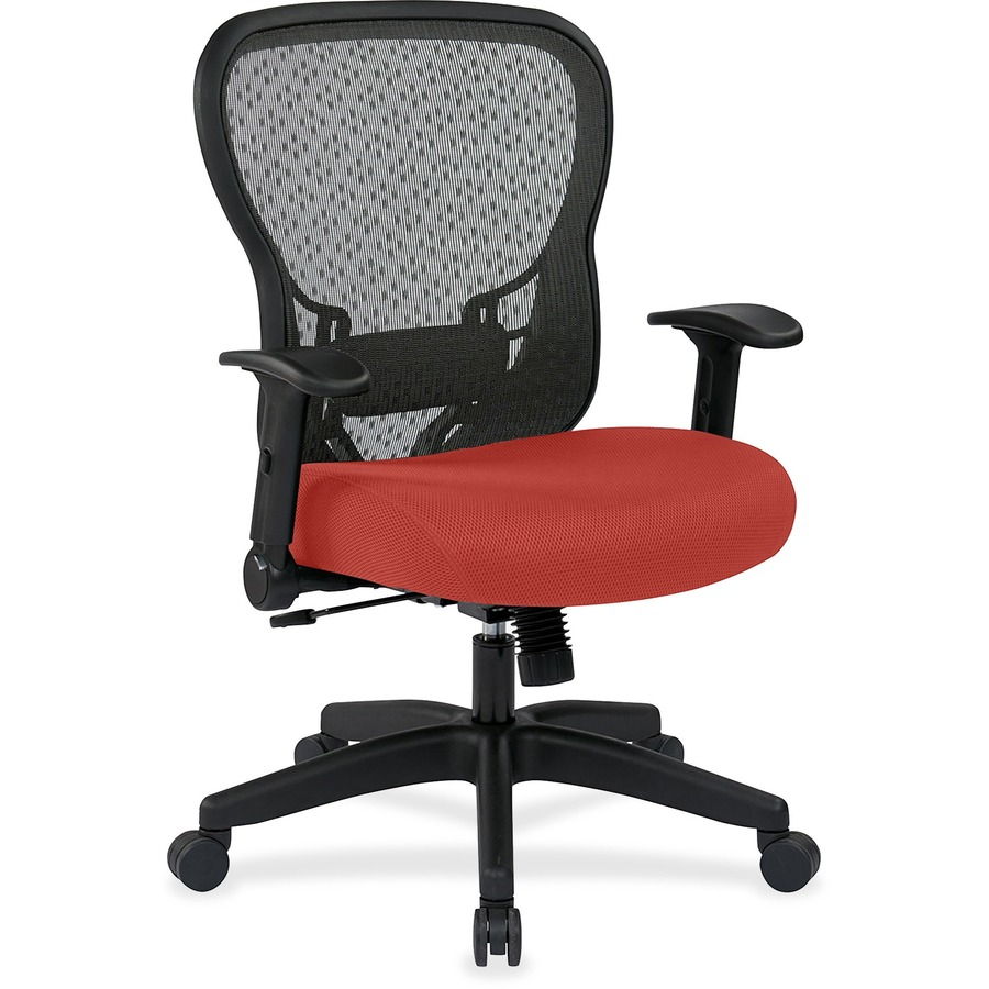 office star r2 space grid 529 r2n1f2 task chair red rock seat canyon