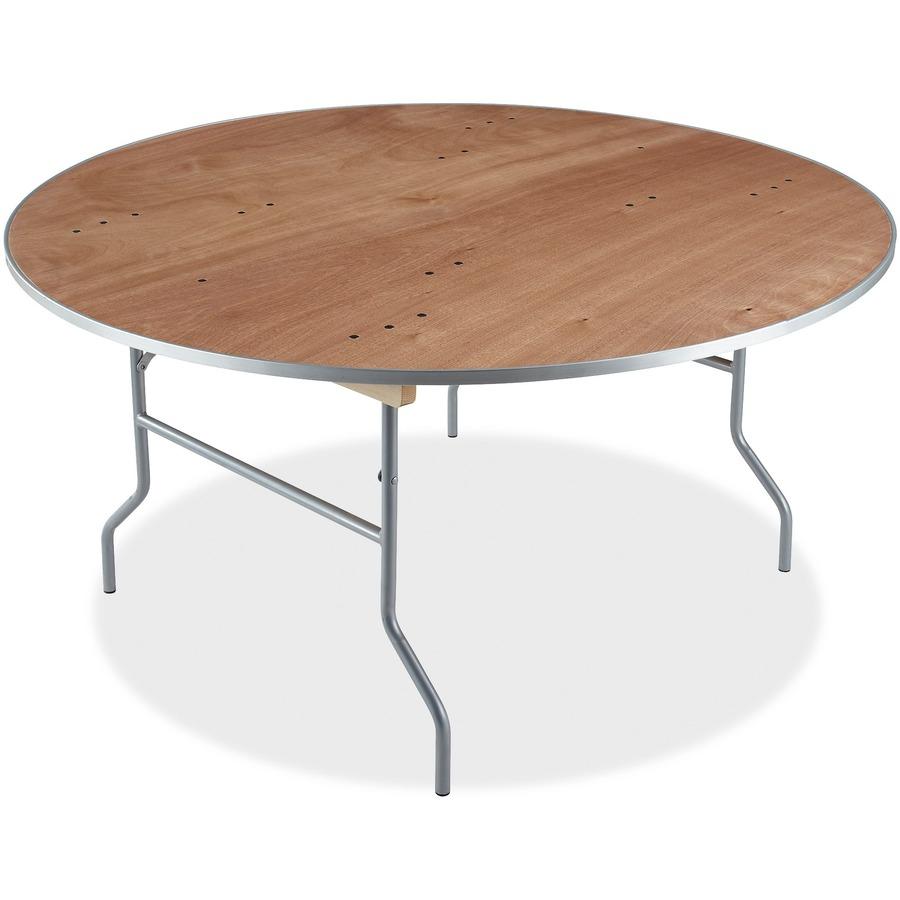 Iceberg Natural Plywood Round Folding Table ICE56260