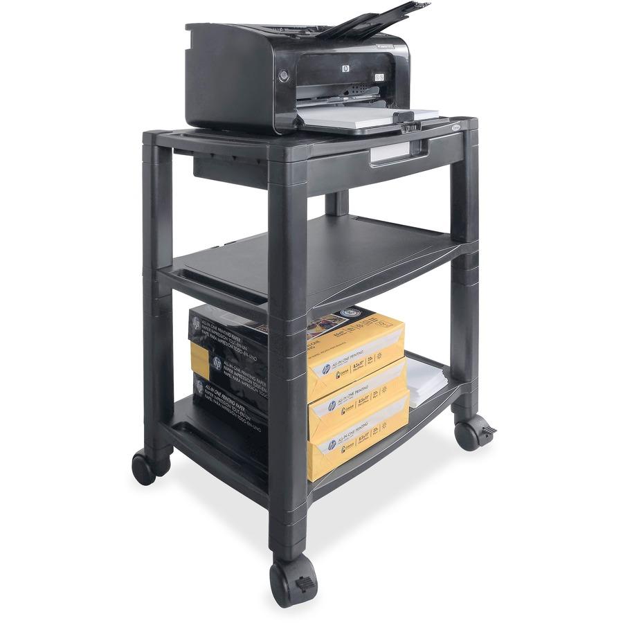 kantek mobile 3 shelf printer fax stand office church. Black Bedroom Furniture Sets. Home Design Ideas