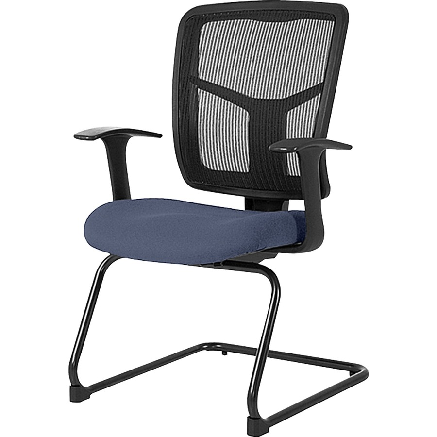 lorell adjustable arms mesh guest chair mac papers inc