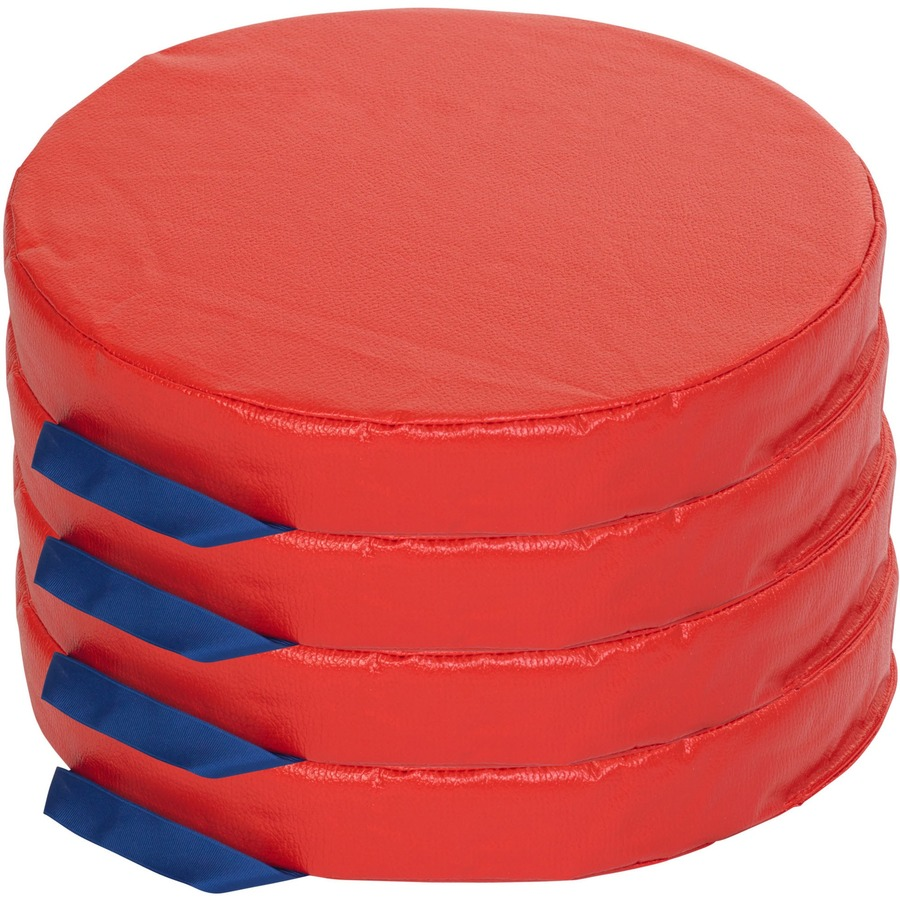 Floor Pillows For Daycare : ECR4KIDS 4-pc Round Carry Me Cushion - Blue Cow Office Products