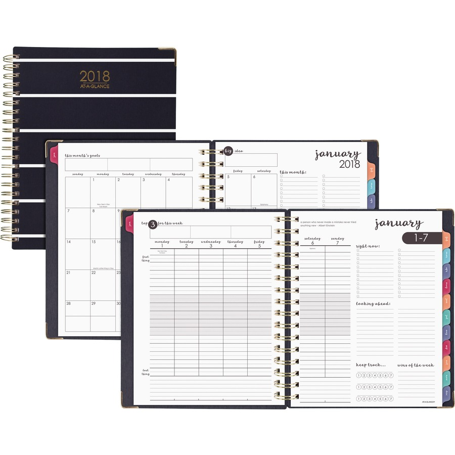 at a glance harmony weekly monthly hardcover planner m l h