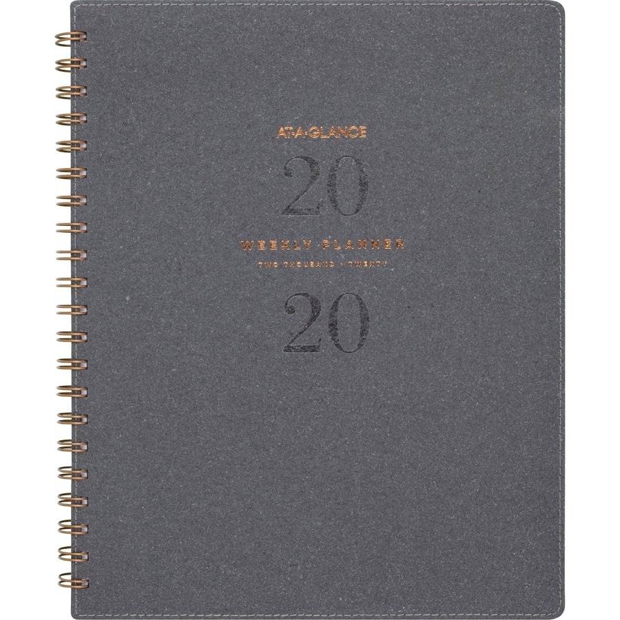 at a glance signature collection monthly planner gray m l h