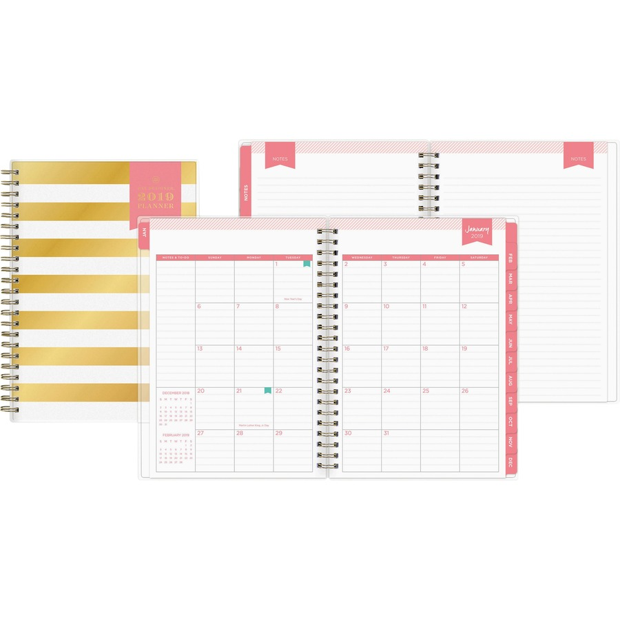 Blue Sky Day Designer Gold Strip Weekly/Monthly Planner - Yes ...