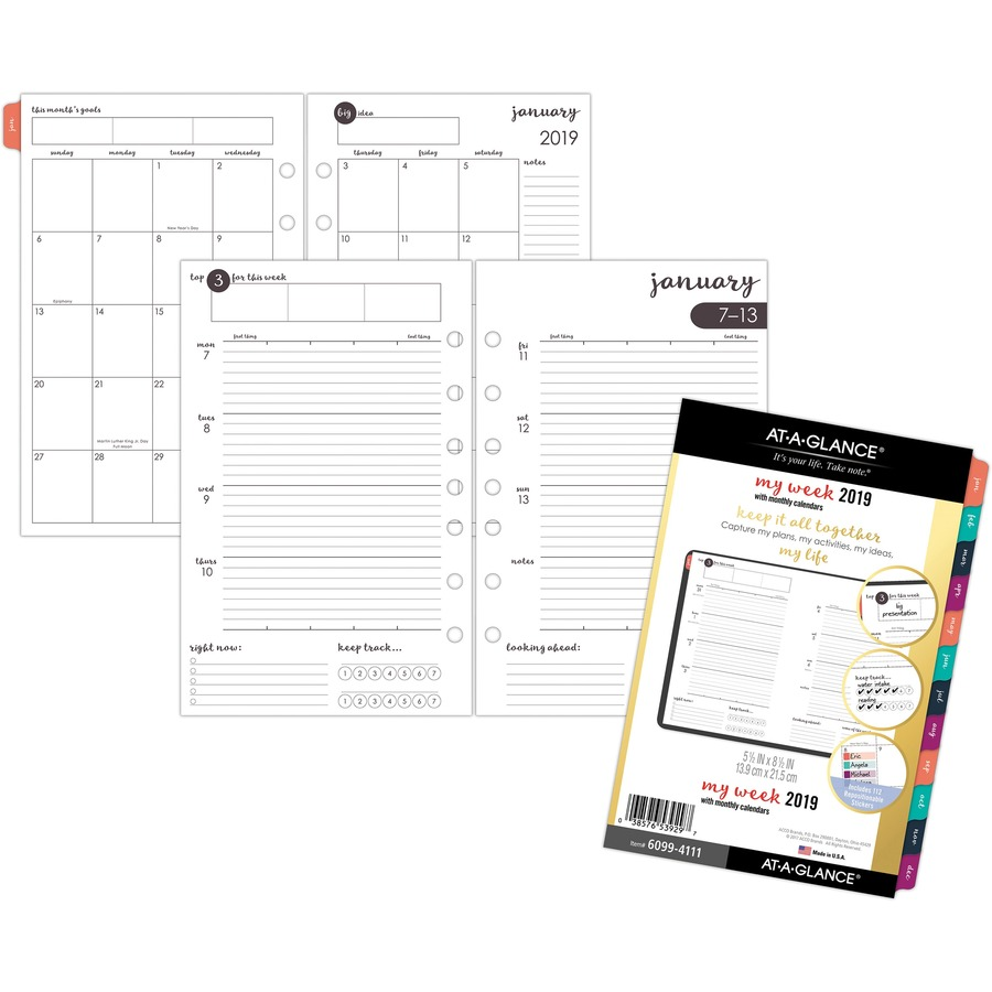 at a glance harmony weekly monthly planner refill urban office