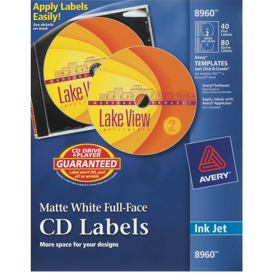 avery disc labels