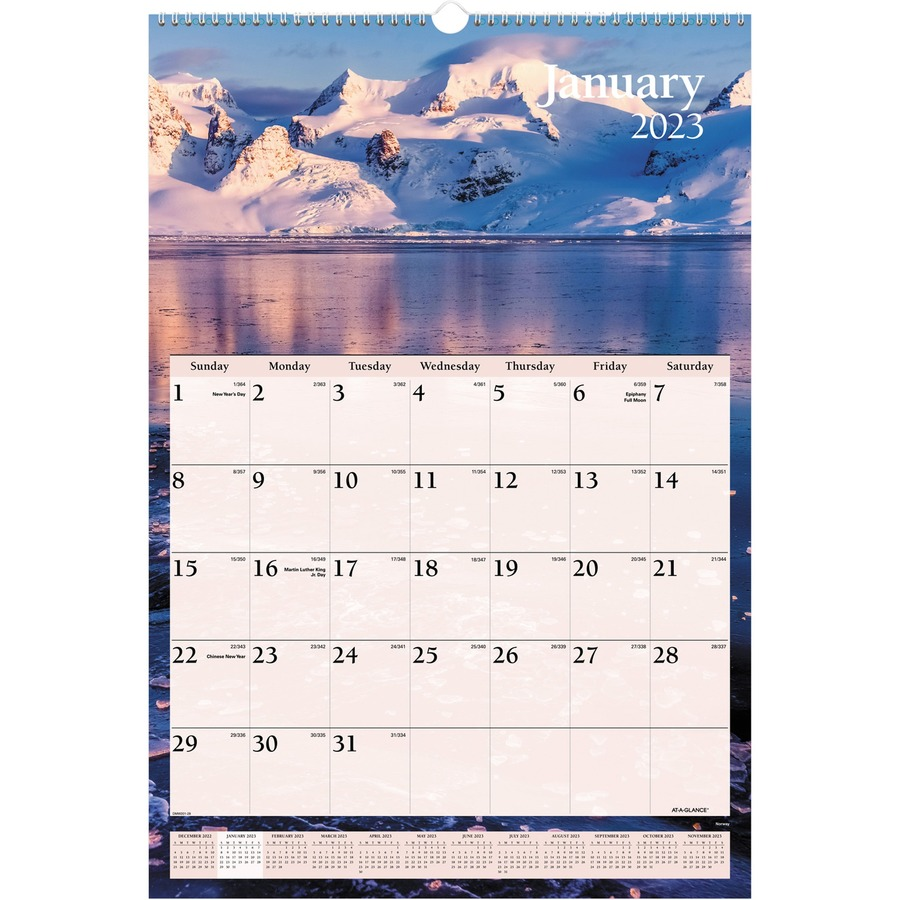 at a glance scenic monthly wall calendar degroot technology