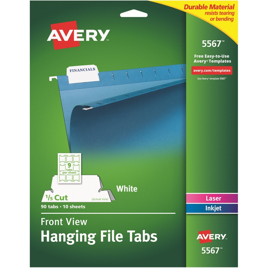 Avery 5567 Avery Printable Hanging File Tab Ave5567 Ave 5567 Office Supply Hut