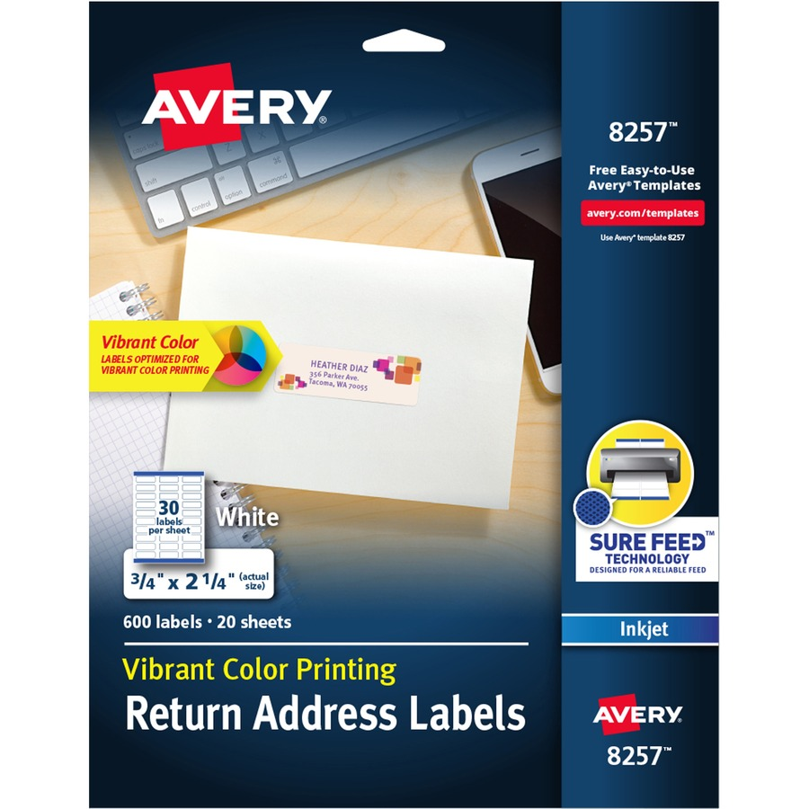 Avery 8257 Avery Rectangular Labels AVE8257 AVE 8257