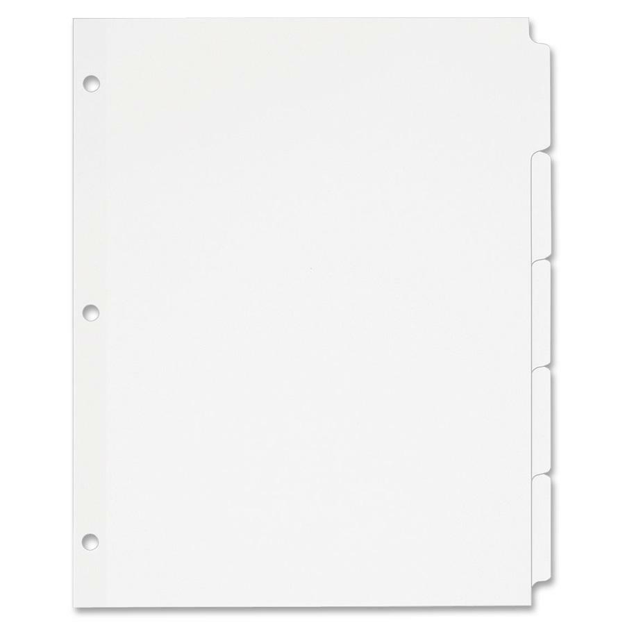 Avery 11506 avery recycled write on tab divider ave11506 for Avery 3 tab dividers