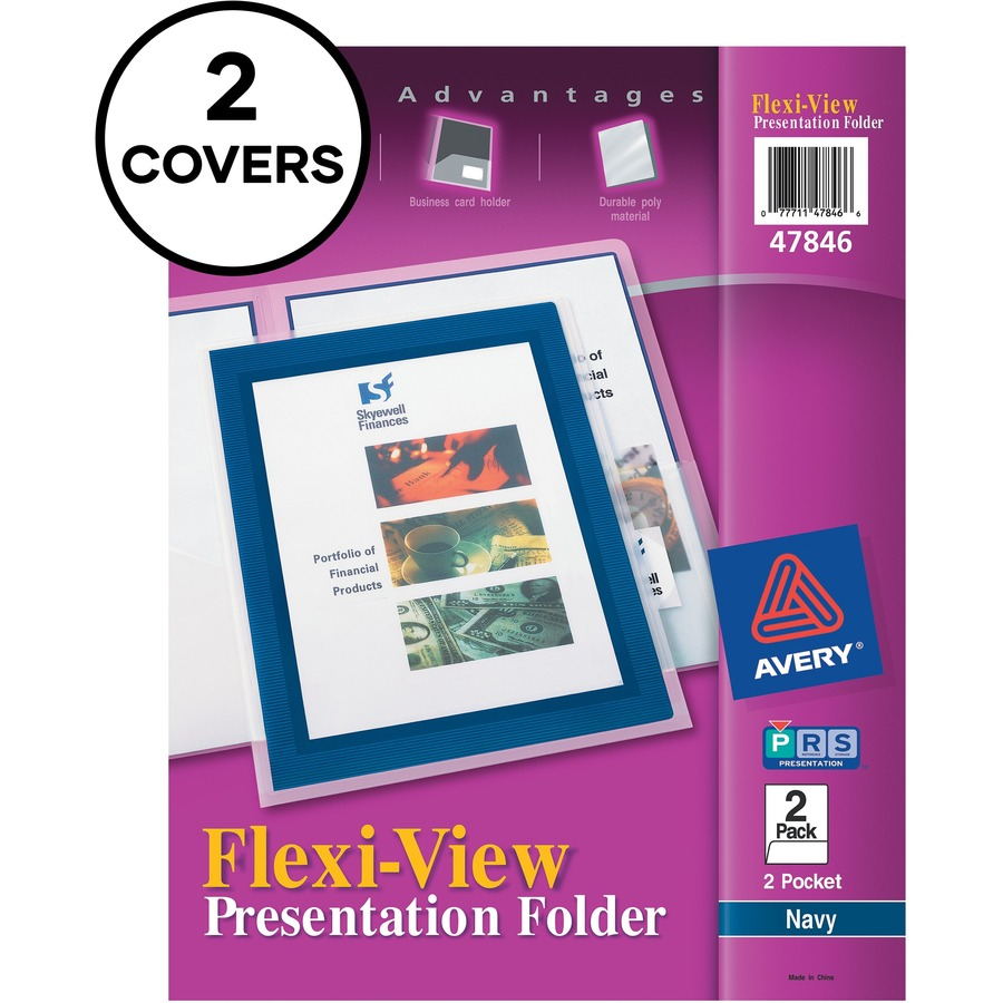 Avery Flexi-View Two Pocket Folders - Mac Papers Inc