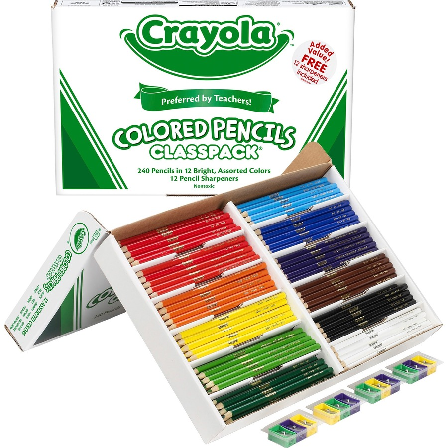 Crayola 240 Count Colored Pencils Classpack - 12 colors - ICC ...