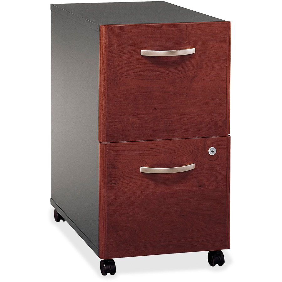 Bush business furniture series c 2 drawer mobile pedestal for Mobile furniture