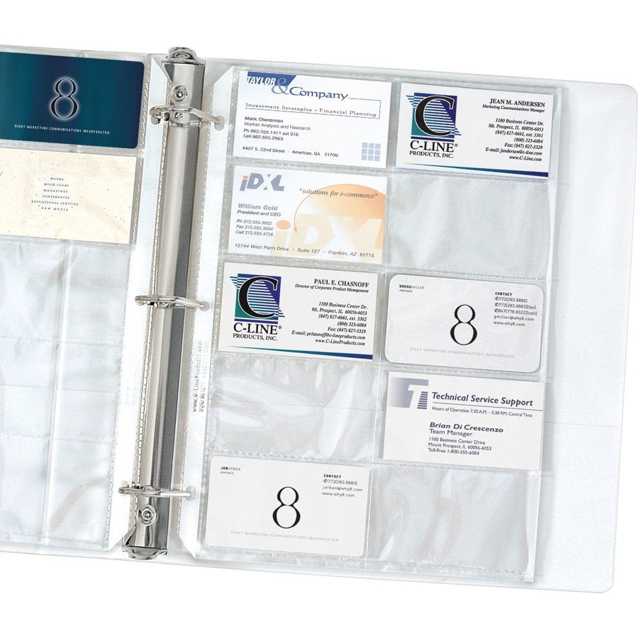 C-Line Business Card Refill Pages - Walker\'s Office Supplies