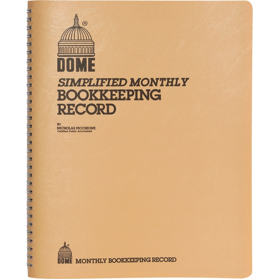 Dome Bookkeeping Record Book Mac Papers Inc Wiring Simplified 128 Sheets Wire Bound 8 3 4 X 11 1 Sheet Size White Beige Cover Recycled Each