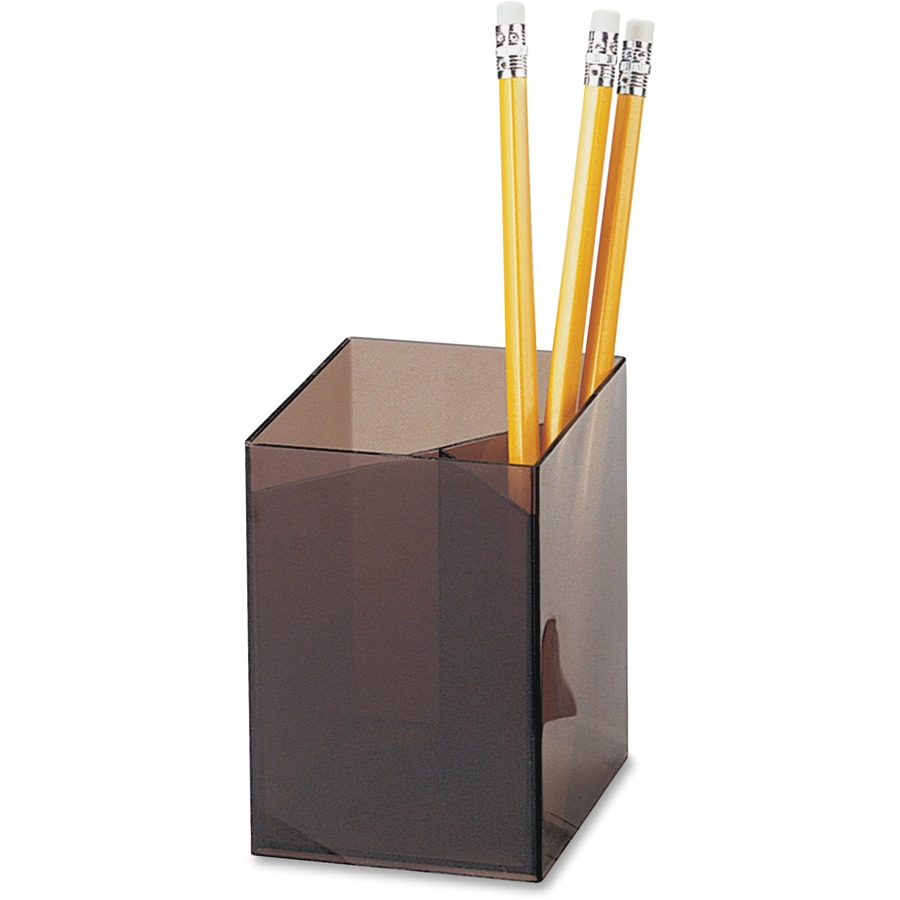 Officemate 3-Compartment Pencil Cup - OIC93680 - Low Prices - Blue Cow