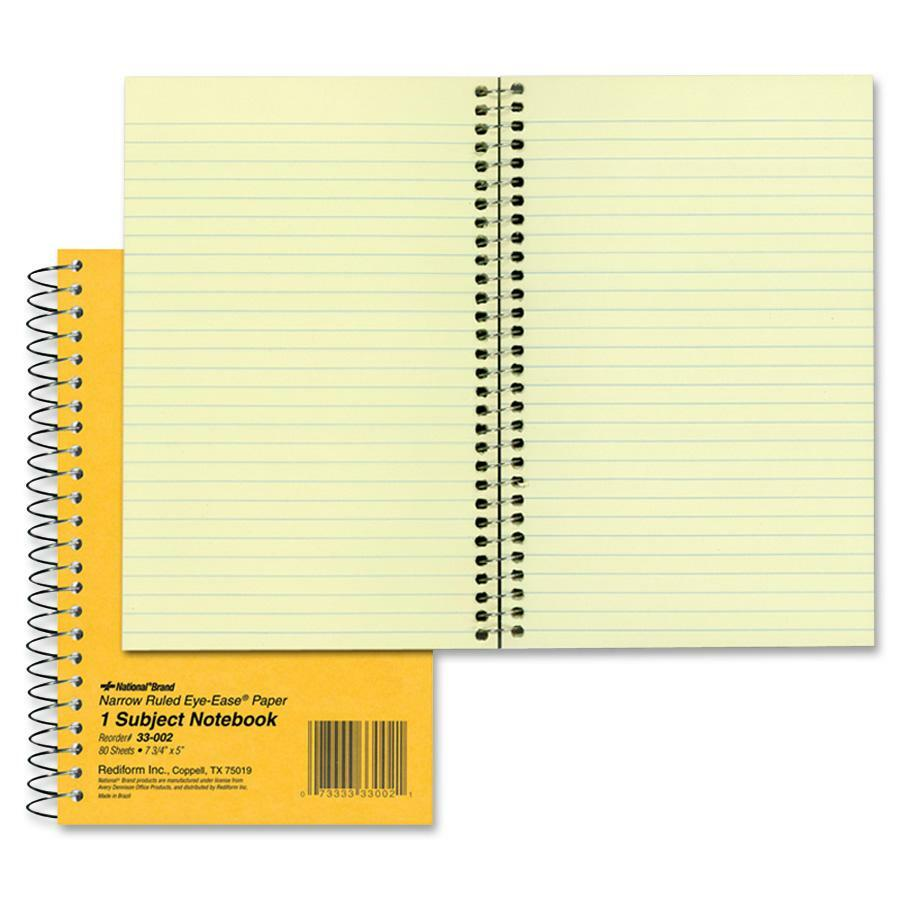Rediform office products subject wirebound notebook wide - Rediform Brown Board 1 Subject Notebooks Red33002