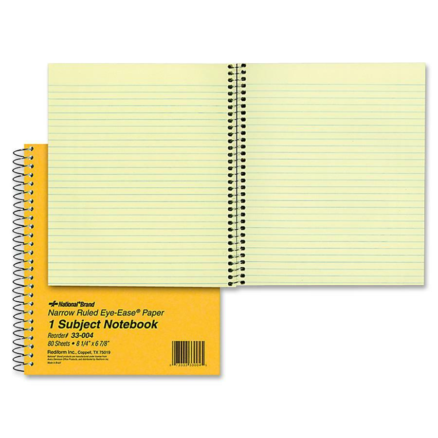 Rediform office products subject wirebound notebook wide - Rediform Brown Board 1 Subject Notebooks Red33004