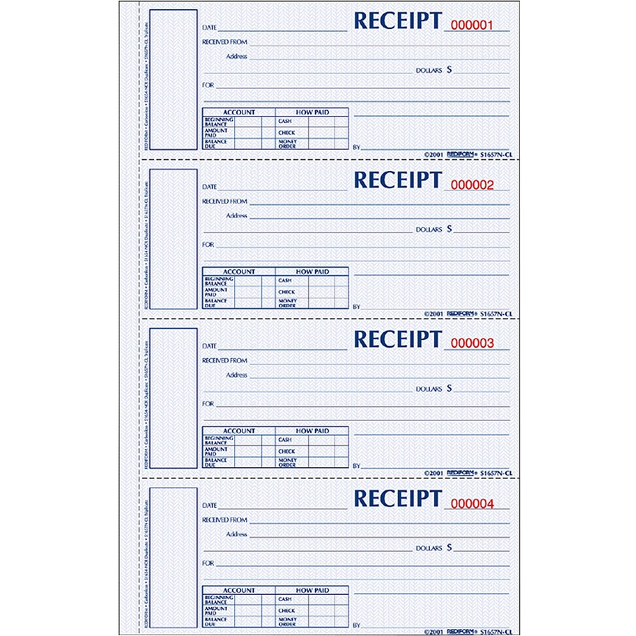 Rediform Money Receipt Book - REDS1654NCR - SupplyGeeks.com