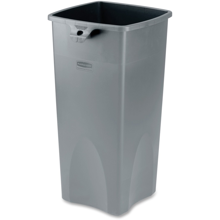 home depot trash cans indoor with Rubbermaid Square Waste Container  Rcp356988gy on Astounding Outside Trash Can Holder as well 904358 together with 10251332 as well How To Hide Air Conditioners And Trash Cans furthermore Continental Rigid Plastic Trash Can Liner.