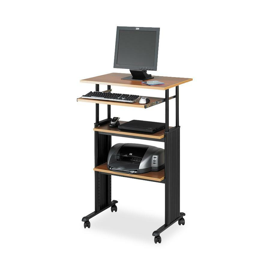 """Safco Muv Stand-up Adjustable Height Desk Rectangle Top - 49"""" Height x"""