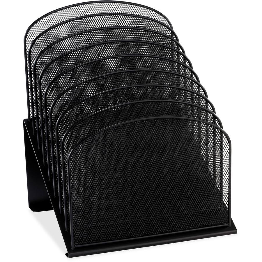 Safco 3258bl safco mesh desk 3258bl slant desktop - Mesh desk organizer ...