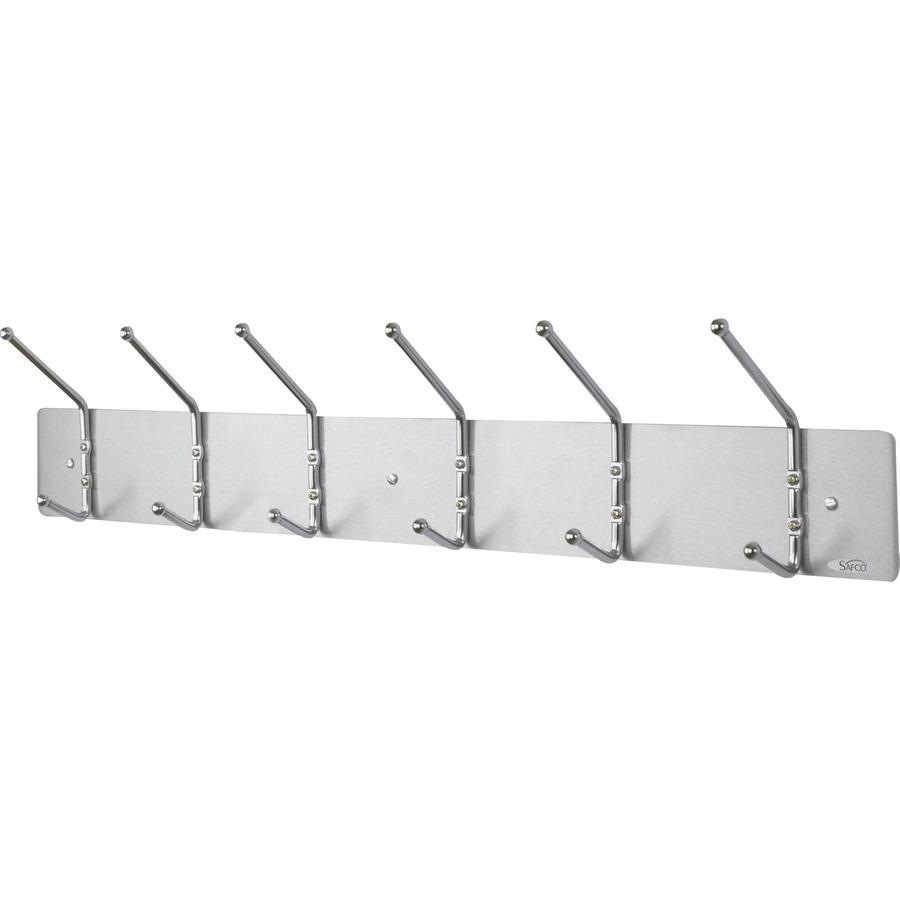 Safco 6 Hook Contemporary Steel Coat Hooks Saf4162
