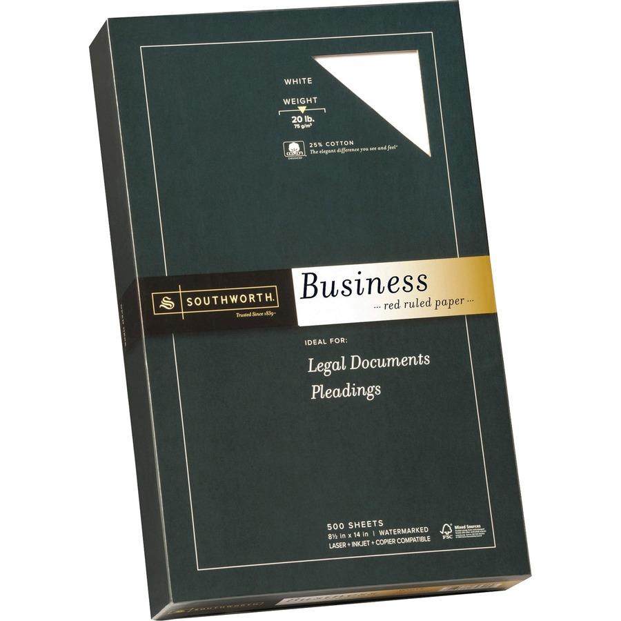 southworth fine business paper 25 cotton 20 lb white watermarked
