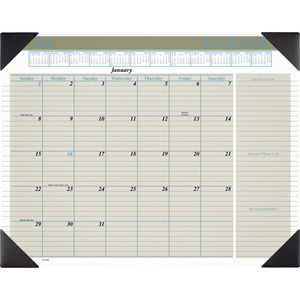 At-A-Glance Executive Monthly Calendar Desk Pad