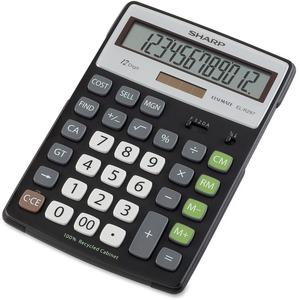 Sharp Calculators EL-R297BBK 12-Digit Extra Large Desktop Calculator