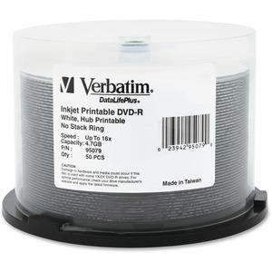 Verbatim Inkjet/Hub Printable 16X Spindle