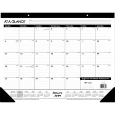 At-A-Glance Nonrefillable 12-Month Desk Pads