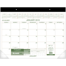 At-A-Glance Recycled 2-Color Desk Pad Calendars