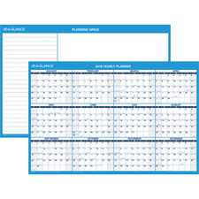 At-A-Glance Erasable Yearly Horiz. Wall Planners
