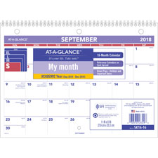 At-A-Glance 16-Month Desk/Wall Calendar
