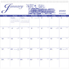 At-A-Glance Illustrated Monthly Wall Calendar