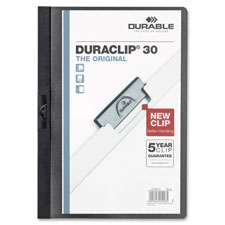 "Duraclip report cover, 60 sheet capacity,11""x8-1/2"",graphite, sold as 1 each"