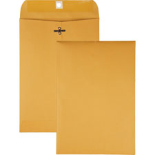 "Gummed clasp envelope, 28lb, 3-3/8""x6"", 100/bx, kraft, sold as 1 box, 500 each per box"