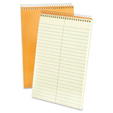 "Steno notebook, gregg ruled, 80 sheets, 6""x9"", green tint, sold as 1 each"