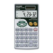 Sharp 10-Digit Metric Conversion Travel Calculator
