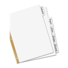 Avery Big Tab Write-On Dividers w/Erasable Tabs