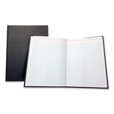 "4 column book, 80 pages, 9-1/4""x7"", black, sold as 1 each"